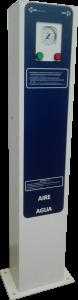 Poste aire y agua manometro analógico